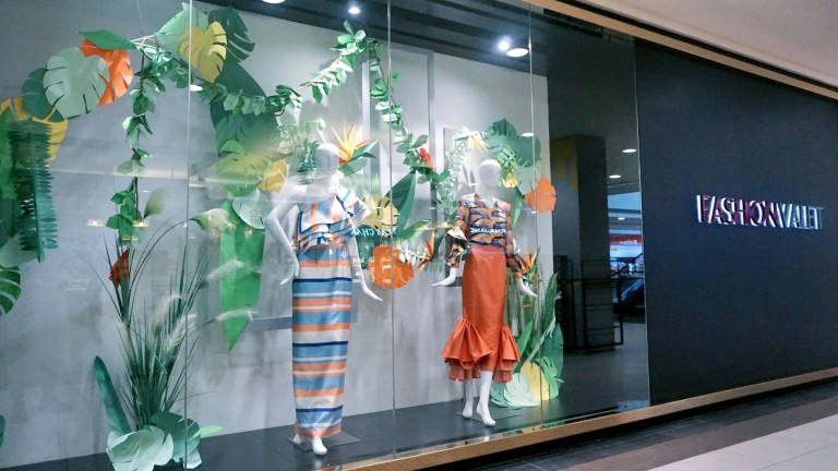 Tropical Theme for window display