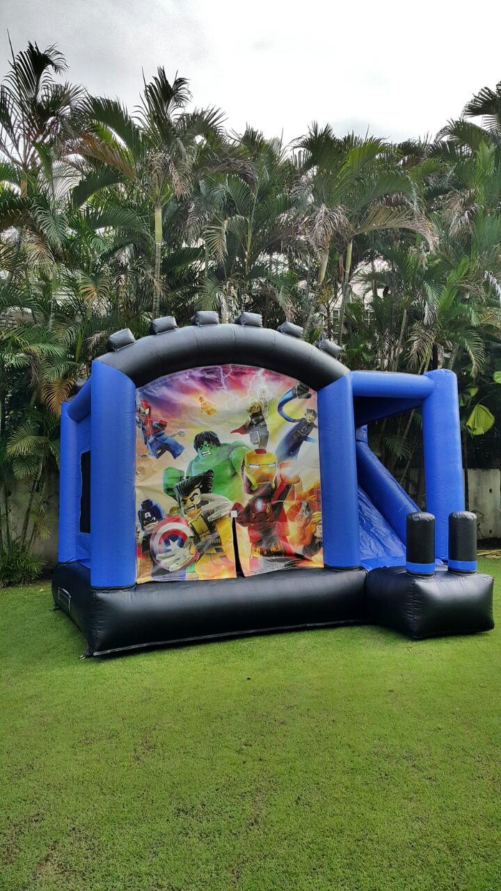 Marvel Superheroes & Lego Combo Slide & Bouncer